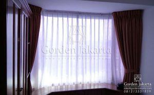 jual gorden jendela minimalis bahan quinn coklat susu di harmoni Q3404