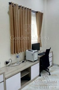 Harga Gorden Jendela Kecil Minimalis Shereena Coklat Q3479