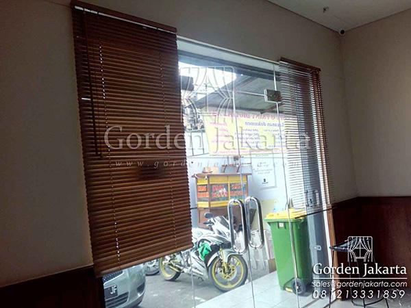 wooden blinds custom gorden jakarta