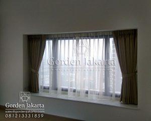 Q3093 harga gorden jendela per meter bahan semi blackout di gandaria