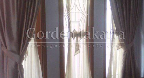 gambar model gorden rumah minimalis kupu-kupu pablo brown Q3129