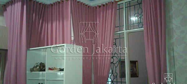 gorden blackout minimalis warna pink Q3275