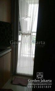 Contoh Vitrage Kupu-kupu Voile Brokenwhite Untuk Pintu Apartemen Greenlake