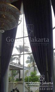 gorden rumah minimalis modern new dimout sahara + rel rollet cokelat Q3372