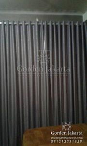 jual gorden untuk rumah minimalis sanaya warna grey dengan rel rollet Q3387