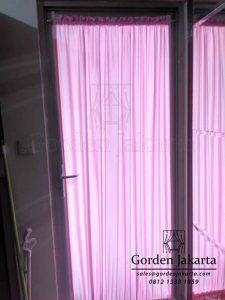 Gorden Kupu-Kupu Lanovo Warna Pink Untuk Pintu Kecil Project Di Tanjung Duren Q3589