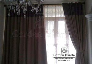 Gorden Kombinasi Warna Grey Dan Coklat Q3633