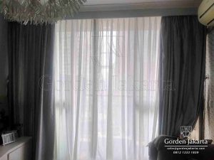 Vitrage Gorden Polos Jendela Apartemen Taman Rasuna Q3621