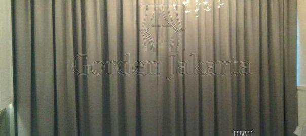 tirai minimalis semi blackout gorden orlando project di Alam Sutra Q3435