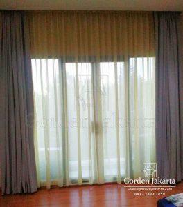 Gorden Minimalis Warna Abu-Abu Orlando Q3710