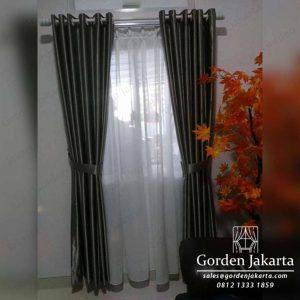 Gorden Tirai Minimalis Warna Silver Semi Blackout Q3909