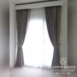 Contoh Gorden Minimalis Warna Abu Bahan Quinn Project Sunter Elok id4051