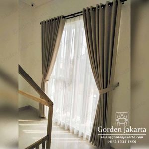gorden minimalis elegan rastik warna grey di Garden City Q3929