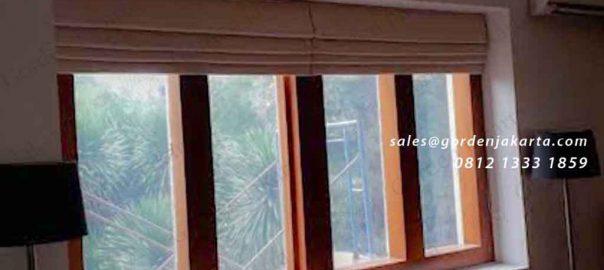roman shades jendela minimalis pasang di Menteng id4083
