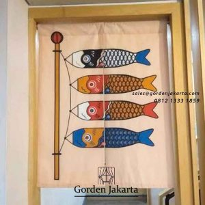 contoh tirai noren custom dari Gorden Jakarta