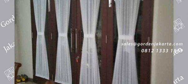 Vitrage model kupu-kupu untuk jendela pintu di Kemanggisan id4117