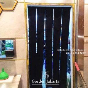 contoh tirai noren jepang polos hitam by gorden jakarta id4233