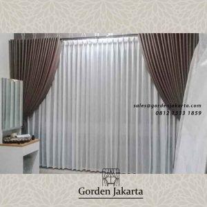 gorden kamar tidur minimalis warna coklat project di kedoya raya id4290