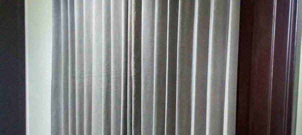 gorden jendela ruang tamu minimalis grey di Garden City id4284