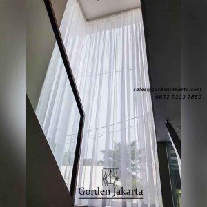 contoh tirai jendela tinggi minimalis by Gorden Jakarta id4226