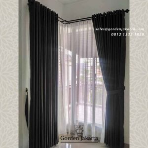 gorden jendela siku minimalis di Kebon Pala by Gorden Jakarta id4141