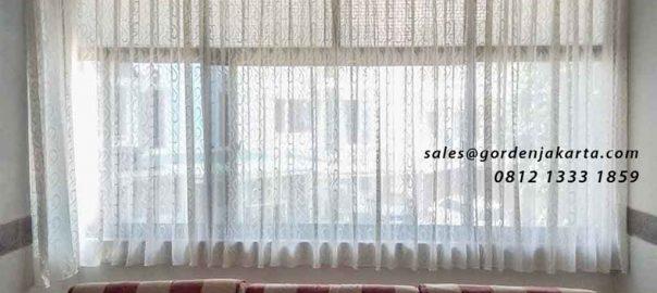 contoh vitrage motif jendela ruang tamu project di Pluit id4375