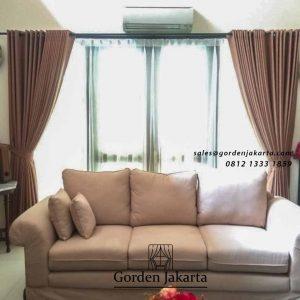 contoh gorden ruang tamu minimalis project di Cilandak id4724