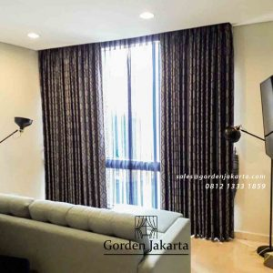 contoh motif gorden jendela bahan semi blackout dari Gorden Jakarta id4443