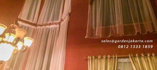 contoh vitrage gorden gaya klasik di Ciputat by Gorden Jakarta id4716