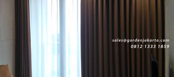 contoh gorden kamar minimalis warna coklat id4958