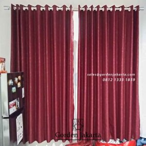 jual gorden online murah minimalis warna merah di Jakarta Utara id4805