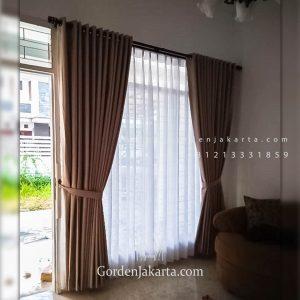 Beli Gorden Warna Coklat Komplek Mega Cinere Depok ID5052