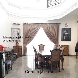 Gorden semi blackout ruang makan ID5312