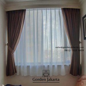 Jual Gorden Minimalis Bahan Quiin 13 Apartemen Taman Rasuna Setiabudi Jakarta id5285