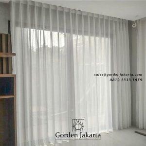Beli Gorden Murah Vitrage Putih Polos Transparan ID5257
