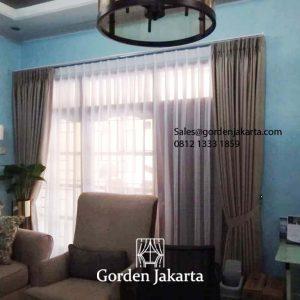 Jual Kain Gorden Bryan Warna Coklat Perumahan PWS Tigaraksa Tangerang Id5858