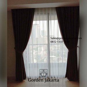 Jual Kain Gorden Saiba 124 Cokelat Apartemen Oakwood Residence Penjaringan Jakarta Id5795