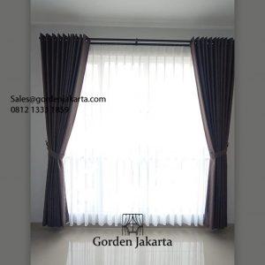 Harga Kain Gorden Semi Blackout Las Vegas Coklat Perumahan V Town House Ciputat ID6373