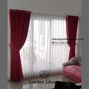 Jual Gorden Murah Quinn Premium Col 10 Merah Palm Villas Cipayung Jakarta ID5753