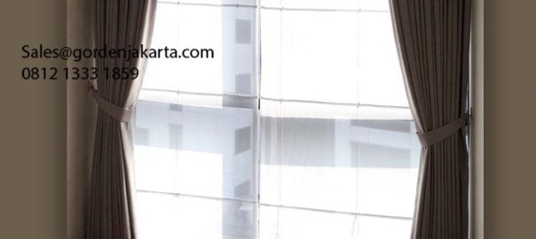 Daftar Harga Gorden Minimalis Stone Dimout -7 Coklat Apartemen One Park Residence Kebayoran Lama Id6220