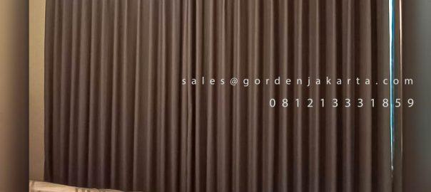 Harga Kain Gorden Semi Blackout Saiba Abu-abu Apartemen Puri Orchard Cengkareng Jakarta ID6251