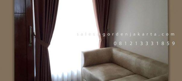 Jual Kain Gorden Semi Blackout Exblack 23-8 Coklat Perumahan DPR RI Kalibata Pancoran ID5960